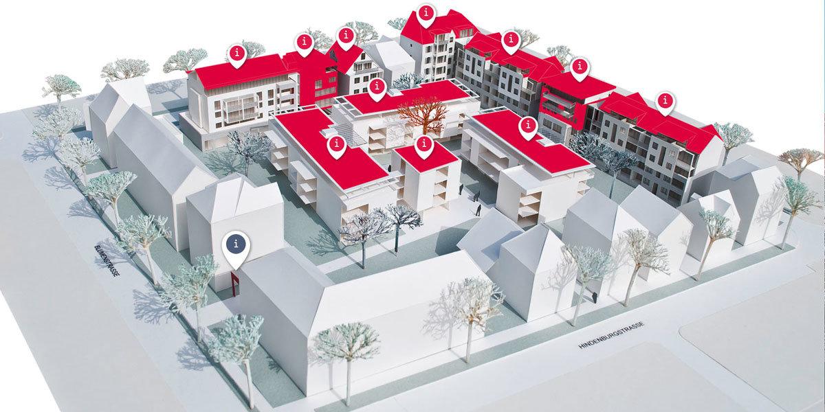 Betonbänke und Hocker für den Klarissenhof in Esslingen